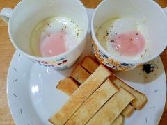 マグカップで簡単エッグスラットプレート朝ごはん