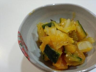 かぼちゃと白菜のゴマ和え☆離乳食