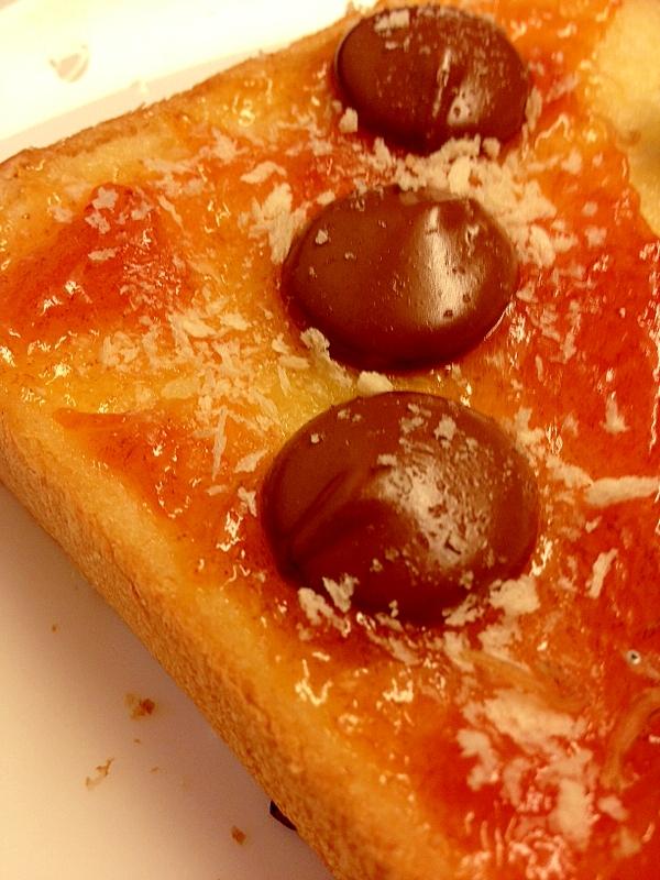 柿&チョコ☆トースト