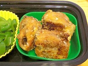 うちのお弁当☆サンマ缶詰で竜田揚げ