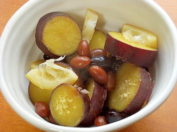 和スイーツさつま芋のレモン煮♪(煮豆2種)