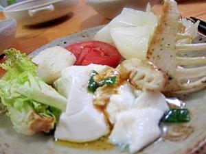 筍麻婆豆腐サラダ