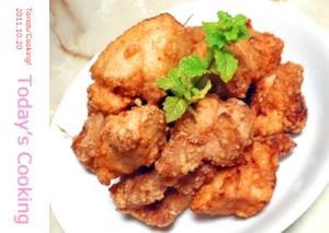 我が家で人気の鶏の唐揚げ!生姜風味のザンギです♪