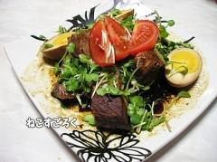 鋳物ホーロー鍋で豚バラブロックのポン酢煮