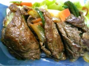 野菜の牛焼肉巻き