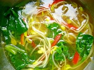 醤油風野菜スープ