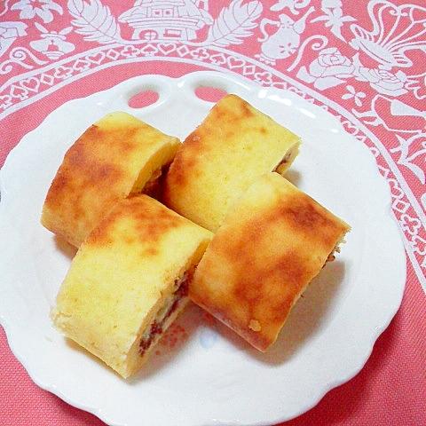4. チョコinミニロールケーキ