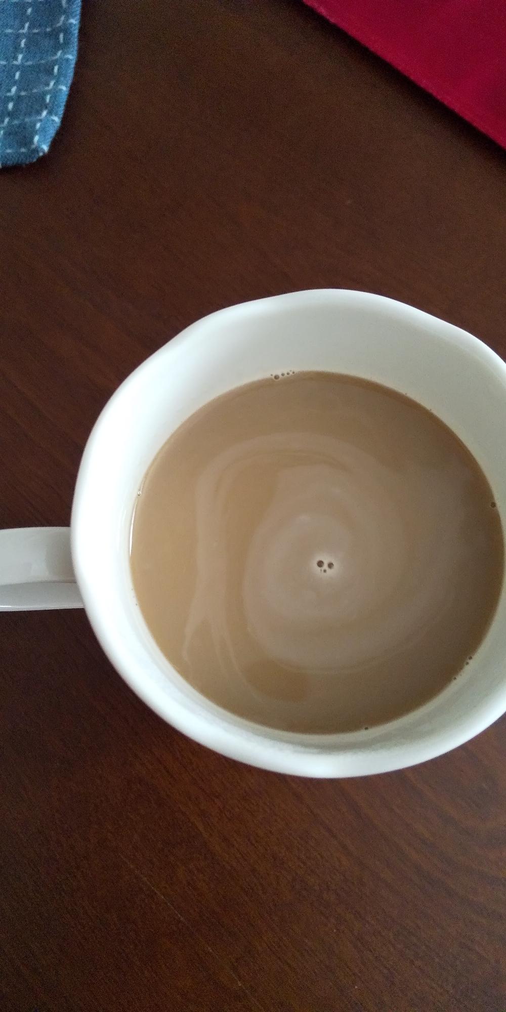 甘くてマイルドなカフェオレ