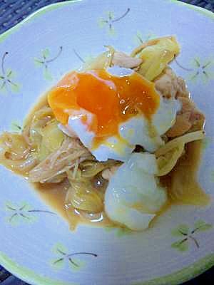 鶏胸肉とキャベツ炒め