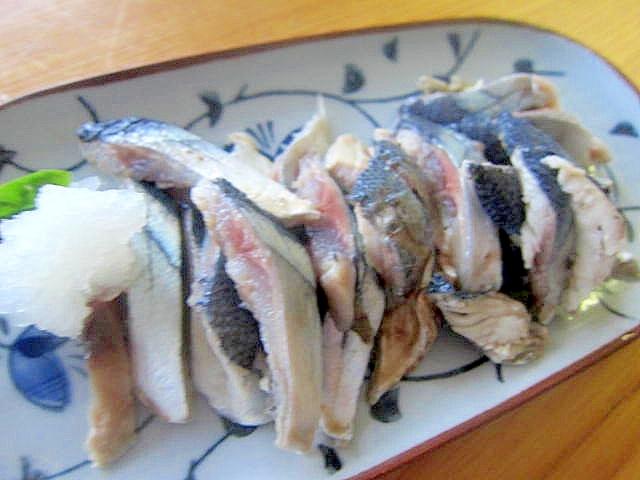 秋刀魚の酢漬け大根おろし