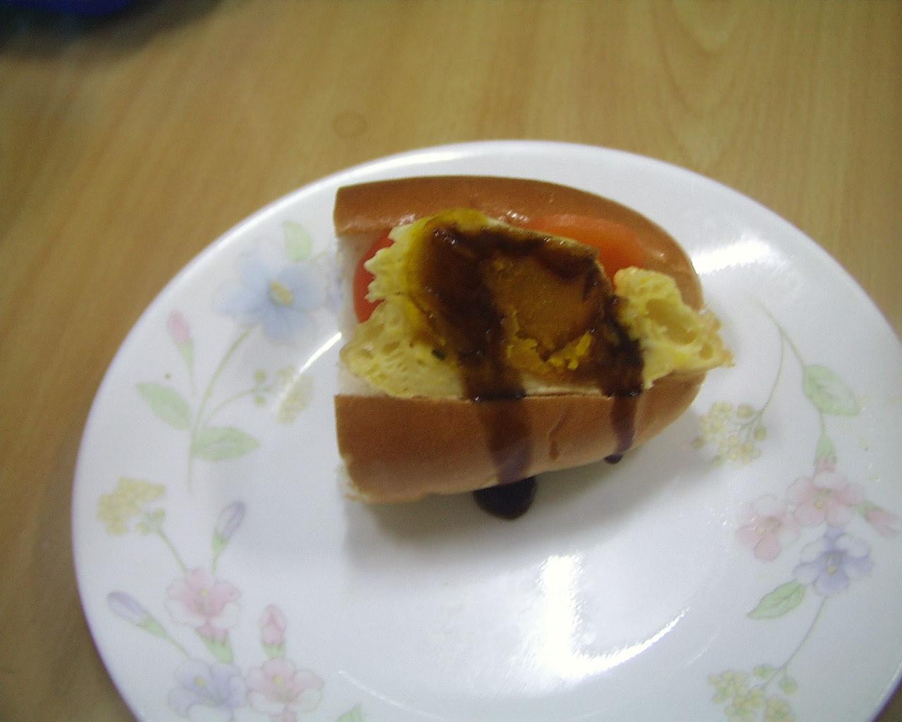 かぼちゃ天ぷら、にんじんロールサンド