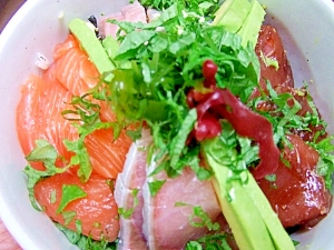 刺身盛りちらし寿司