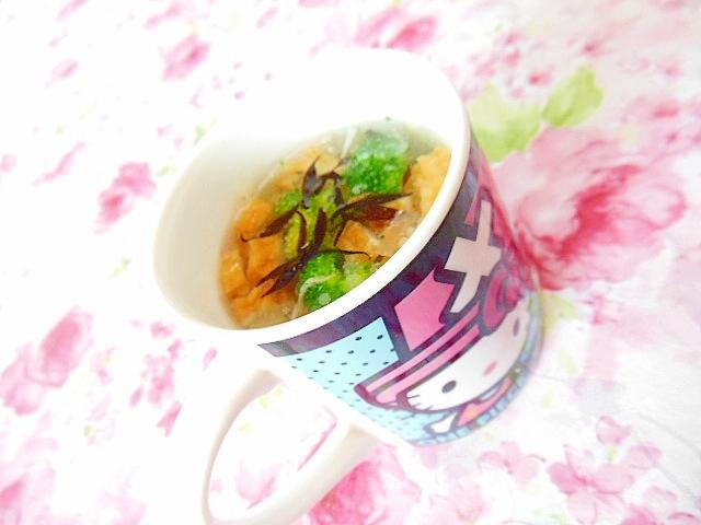 ウェイパーdeひじきと竹輪とブロッコリーのスープ