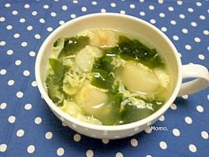 わかめとお麩の玉子スープ
