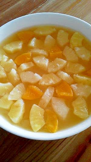 甘いオレンジジュースで☆寒天ゼリー♪