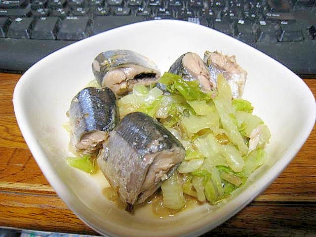 白菜とサンマ缶の温野菜サラダ