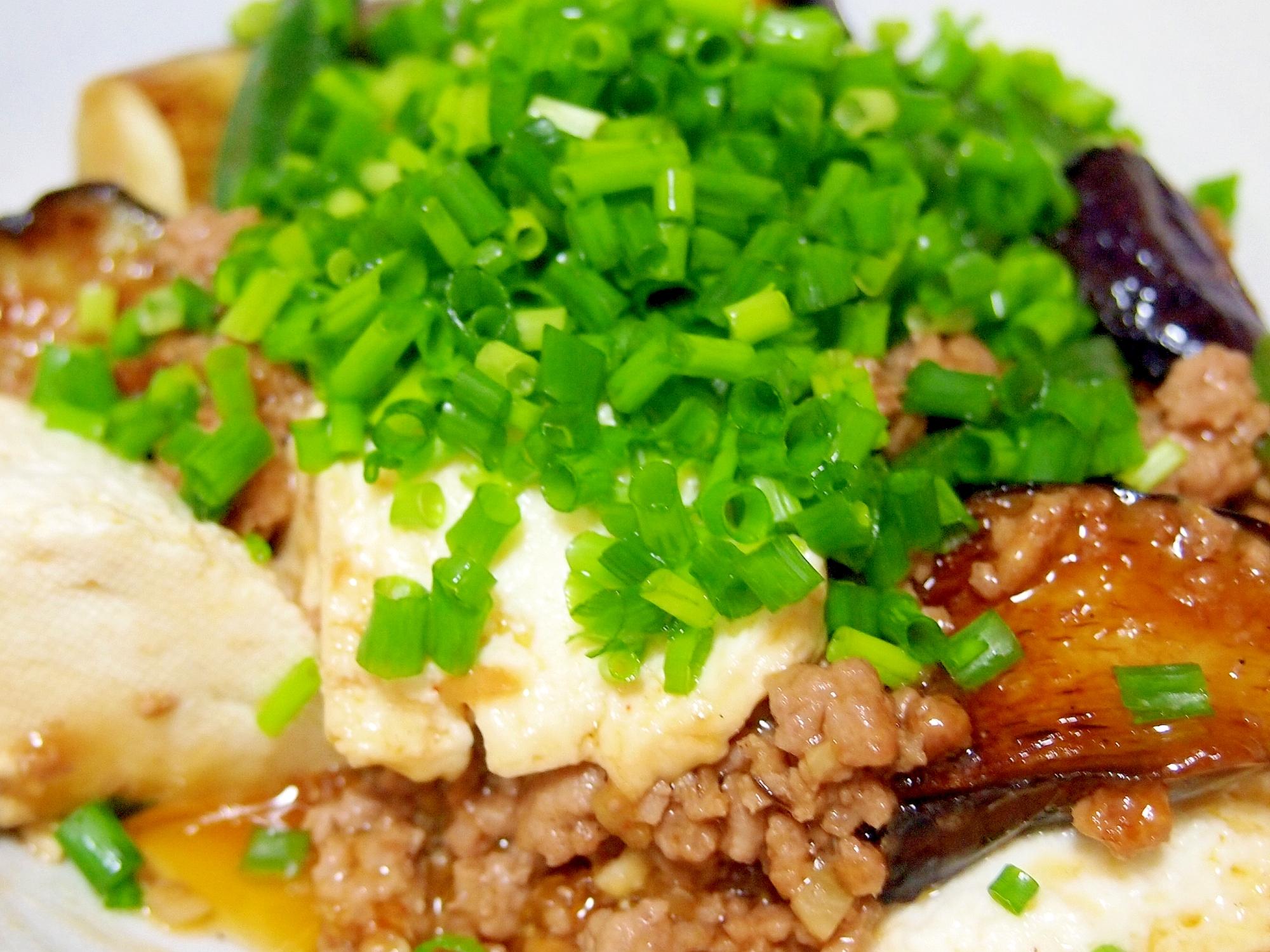 夏野菜と豆腐の麻婆炒め