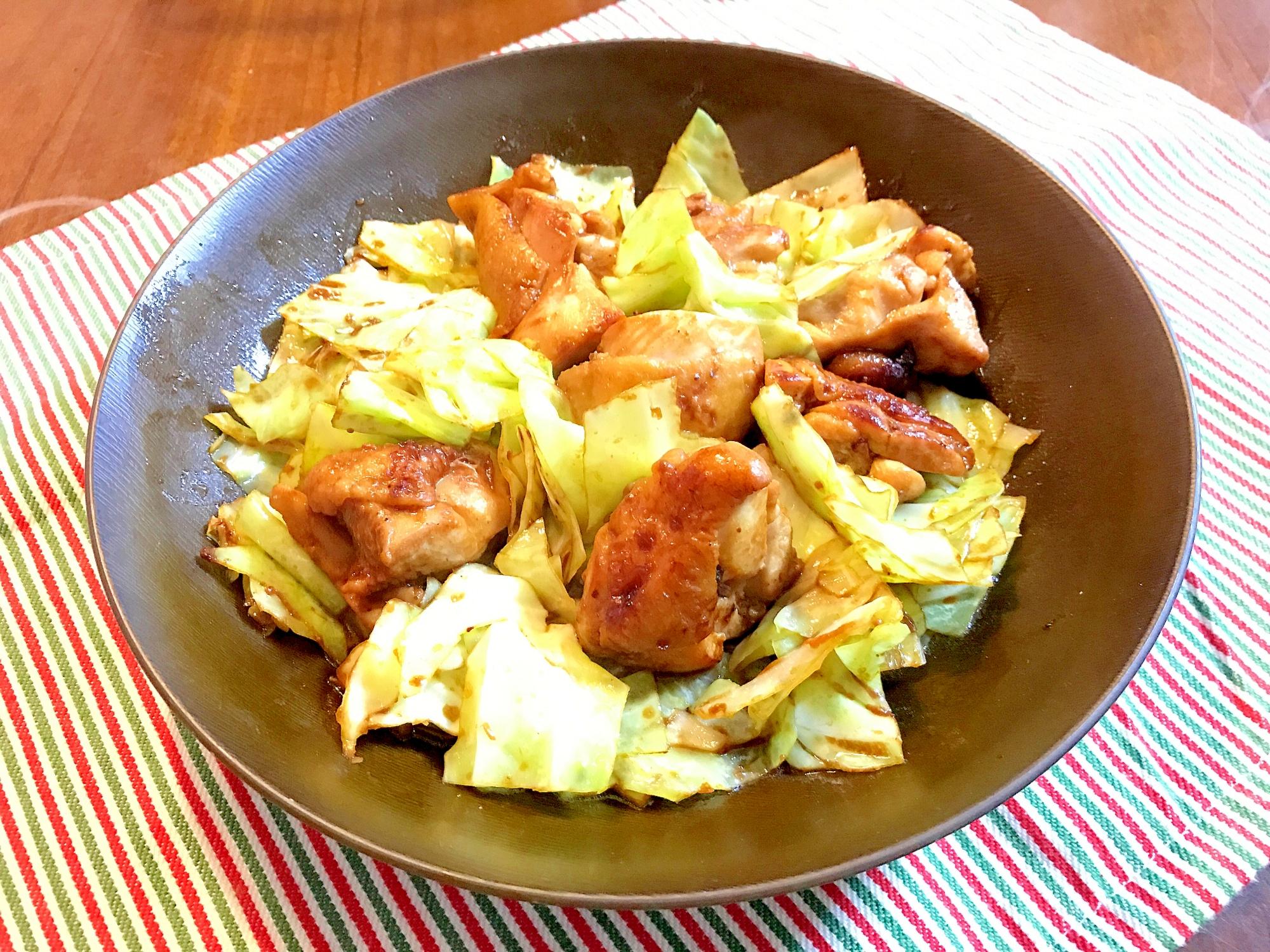 4. お弁当のおかずにも。「鶏肉とキャベツの赤味噌炒め」