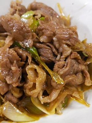 すき焼き風牛肉長ネギ炒め レシピ・作り方