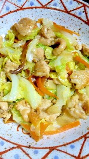 鶏と野菜の炒め物