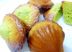 フィナンシェ作りで残った卵黄で 緑茶マドレーヌ