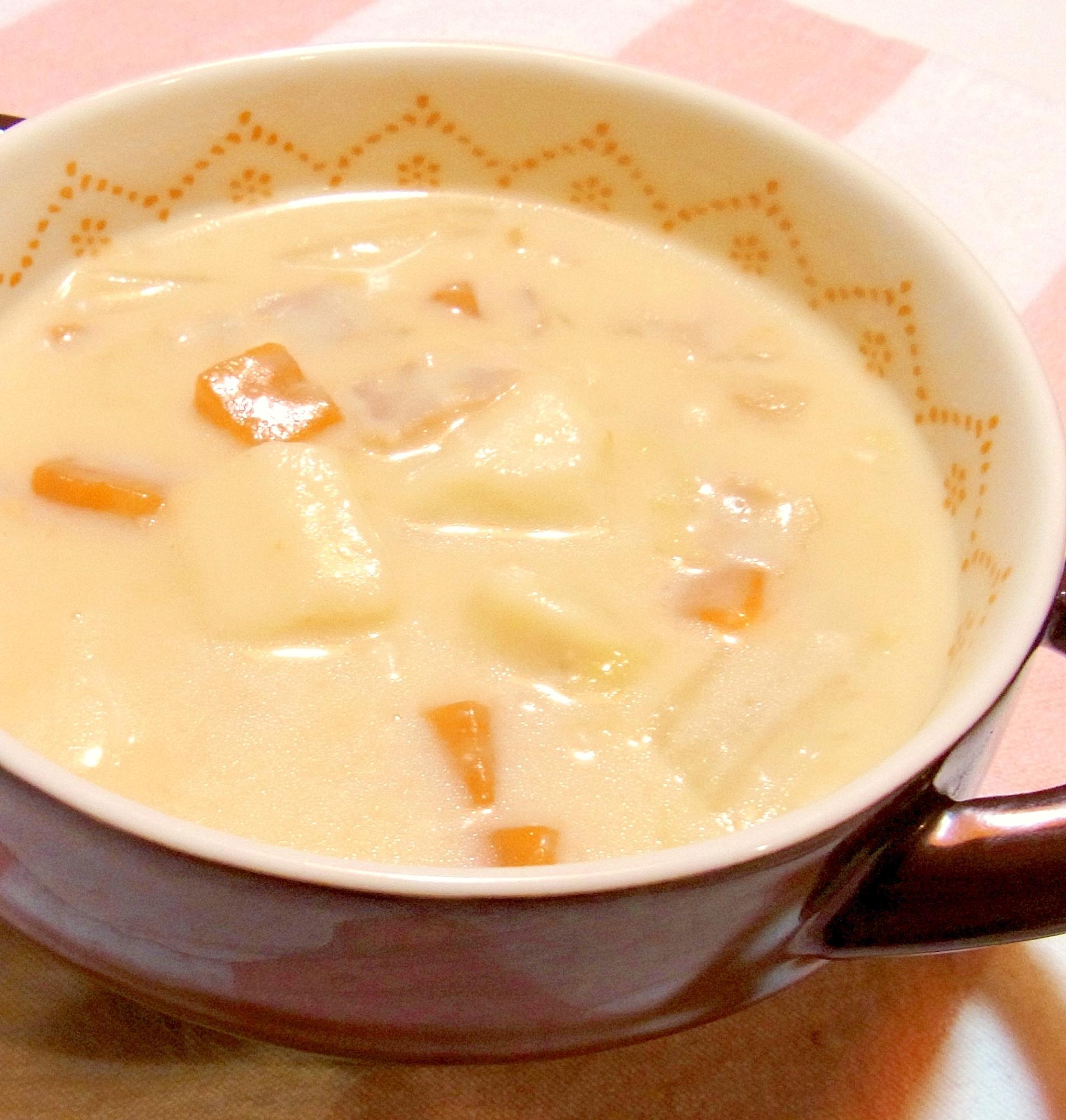 山芋と白菜の味噌クリームシチュー