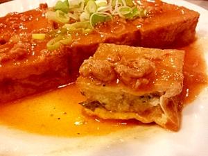 3. 【豚】厚揚げ餃子