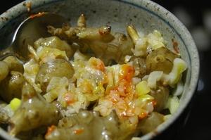 菊芋とネギのピリ辛和え