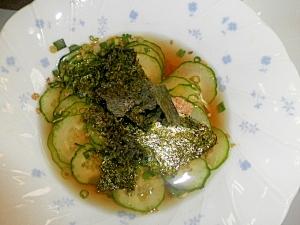 夏バテ気味の体に☆焼き海苔ときゅうりの冷製スープ☆