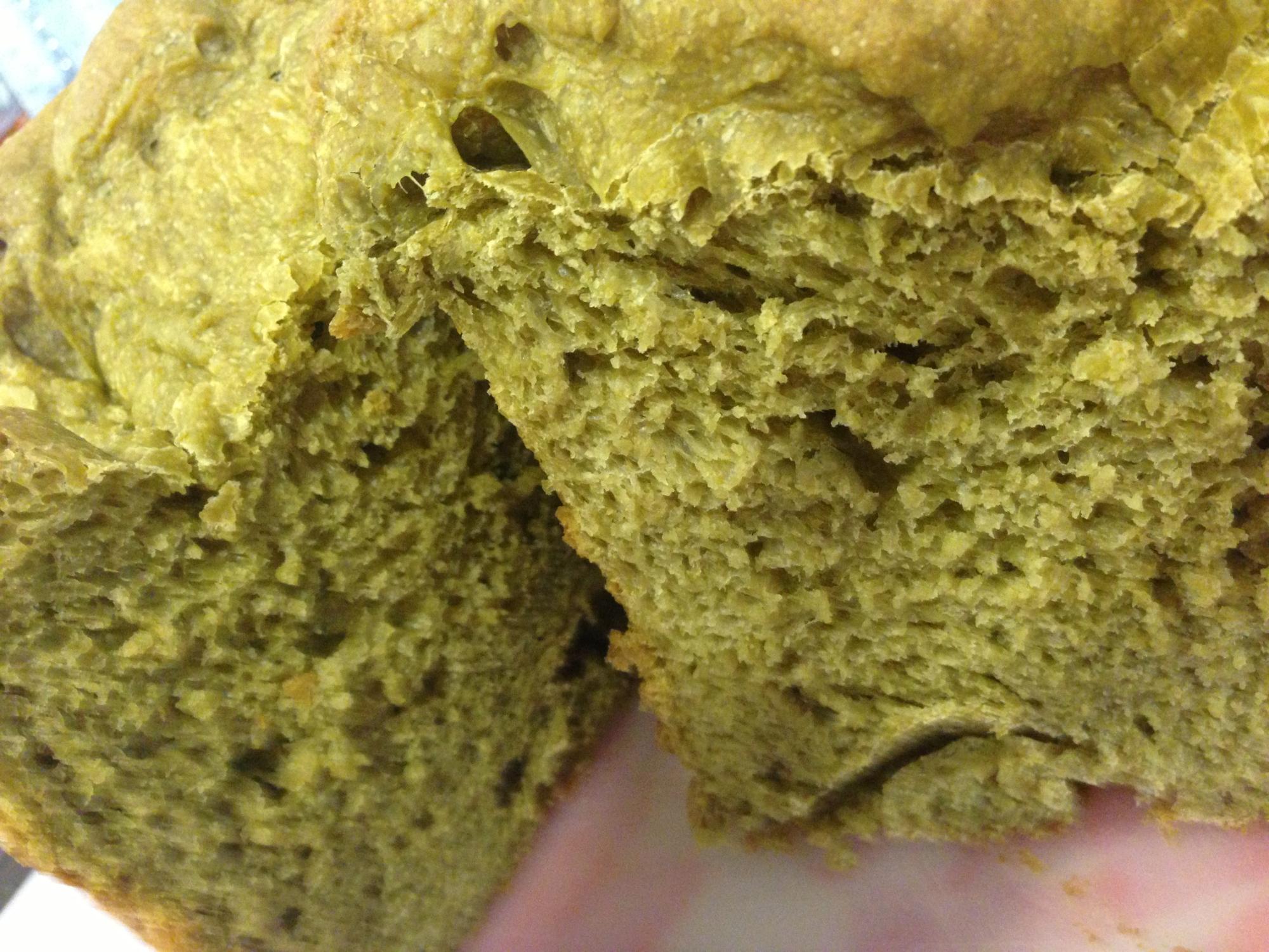 ホームベーカリーde抹茶あずき食パン
