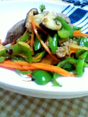 野菜たっぷり!牛赤身肉の野菜炒め