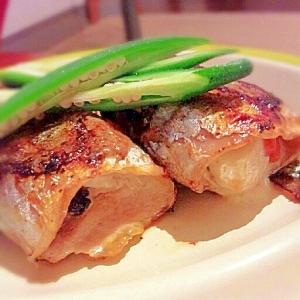 秋刀魚でカマンベール巻き