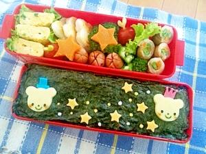 簡単キャラ弁☆七夕のお弁当♪