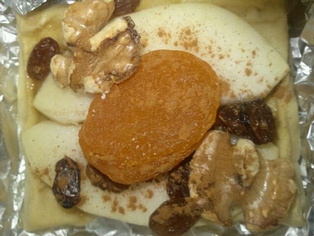高野豆腐トースト(スイーツ風Wりんご)