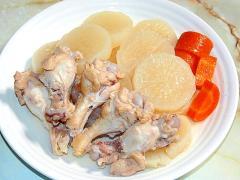 圧力鍋で時短!鶏手羽と大根たっぷりの煮物!