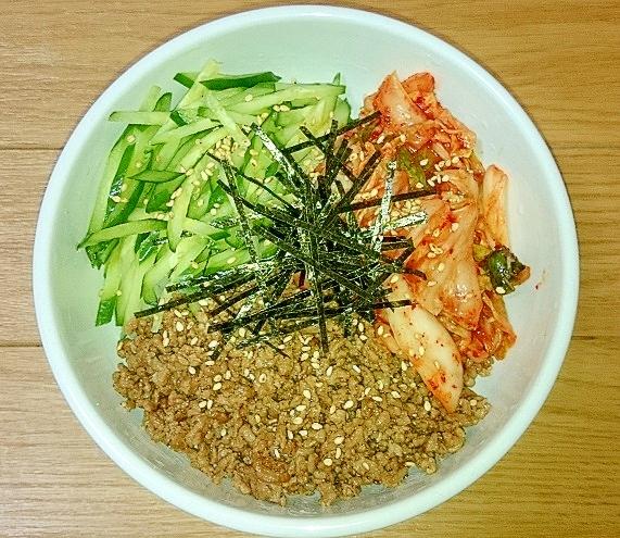 焼肉のタレとひき肉で☆なんちゃってビビンバ丼 レシピ・作り方 by junko0115|楽天レシピ