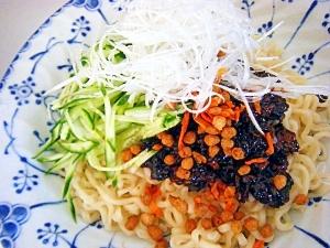 豆腐そぼろの韓国ジャジャ麺