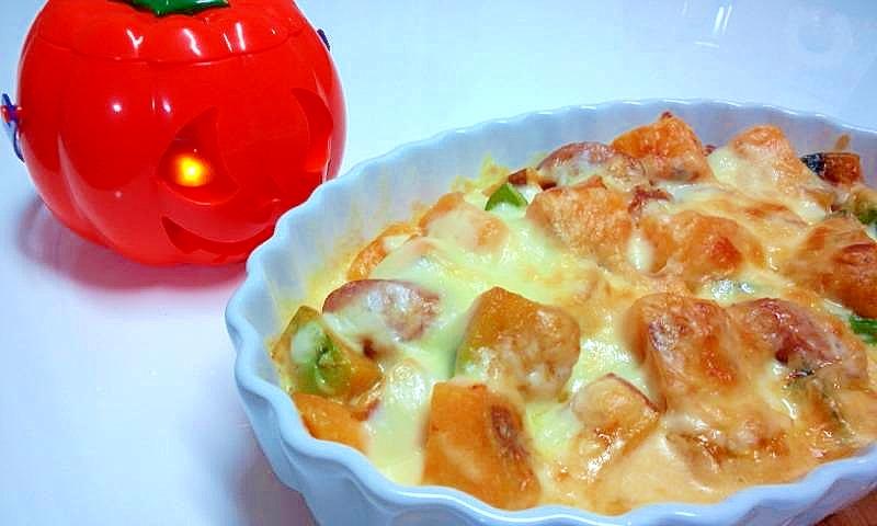 2. 安納芋とかぼちゃのグラタン
