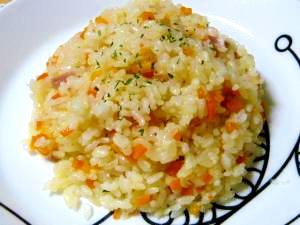 ☆炊飯器で簡単☆ガーリックベーコンピラフ♪ レシピ・作り方