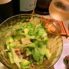 梨と雑穀とアボカドのすっきりサラダ