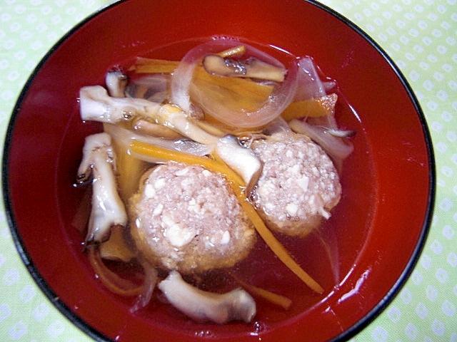豆腐団子と野菜のスープ