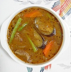 牛角切りで作るスープカレー