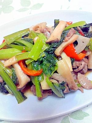 豚肉と野菜のカラフル炒め