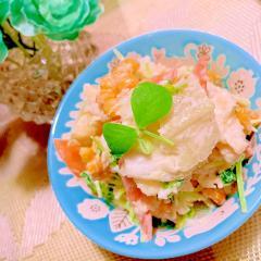 焼もろこしと炒め野菜のポテトサラダ