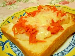 人参食べよポテトキャロットのバタートースト