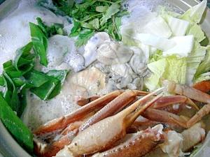 お野菜たっぷりの蟹かき鍋