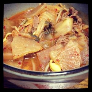 ユッケ風スープ