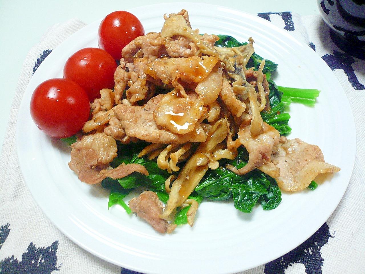 ほうれん草と豚肉の炒めサラダ:115