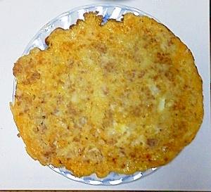 挽肉とキャベツ入り卵焼き