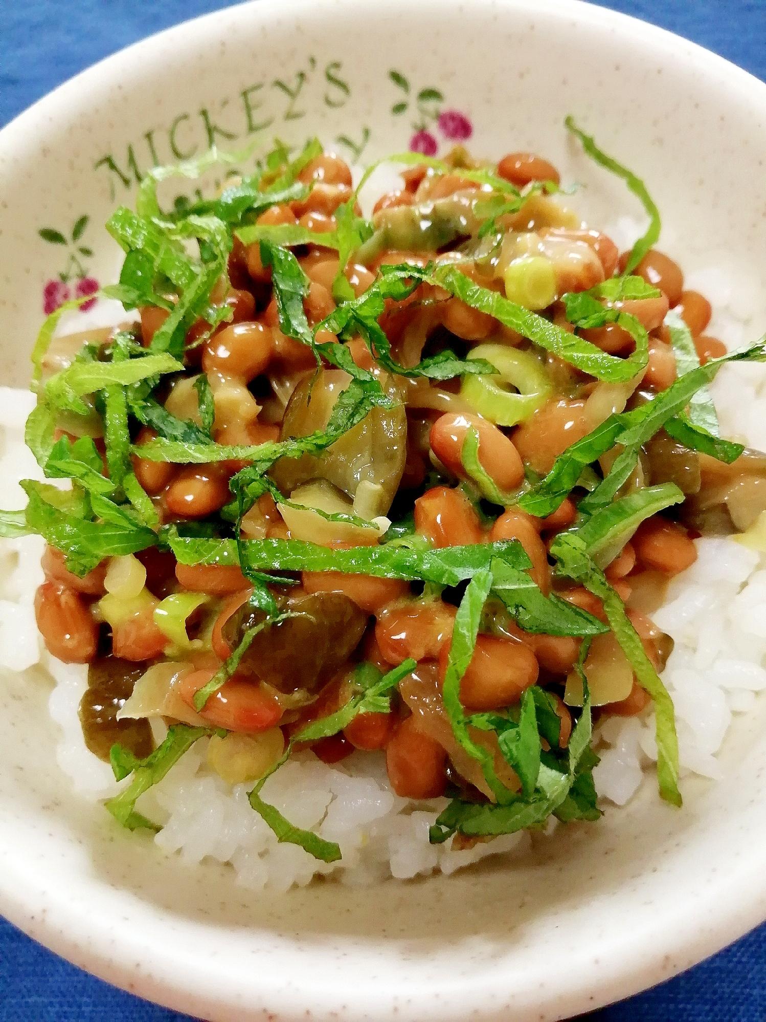 納豆の食べ方,ザーサイ&きゅうり漬物♪ レシピ・作り方
